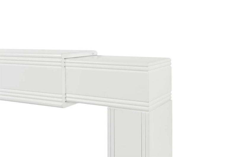 Pearl Mantels Emory Fully Adjustable Fireplace Mantel Surround adjusted corner