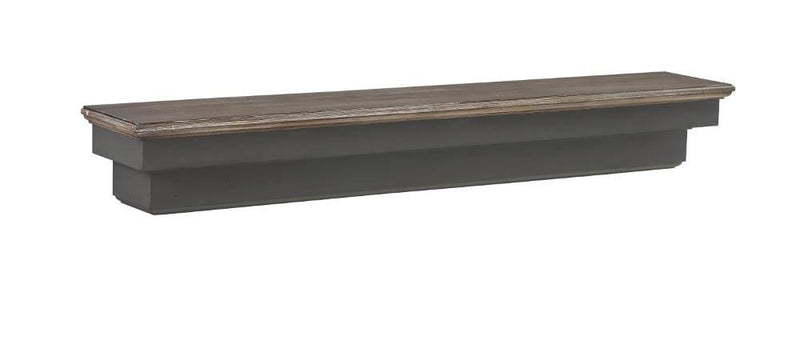 Pearl Mantels Hadley Wood Fireplace Mantel Shelf in Cottage Distressed Finish floating shelf