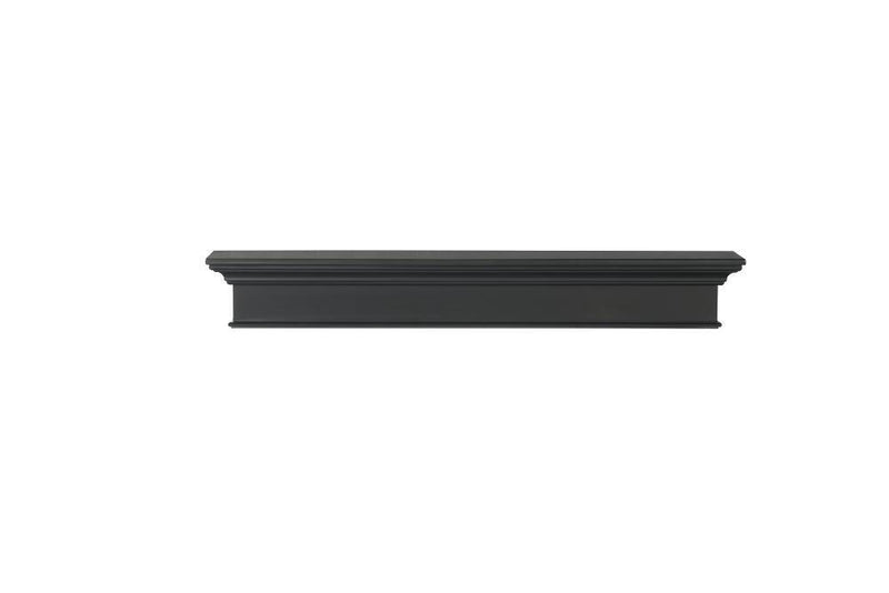 Pearl Mantels Henry Wood Fireplace Mantel Shelf in Black Paint 2