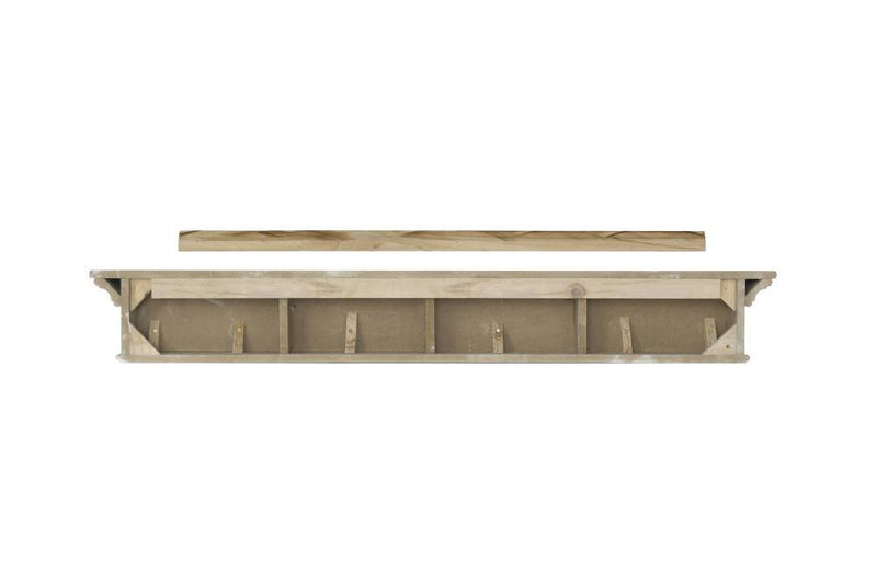 Pearl Mantels Henry Wood Fireplace Mantel Shelf in Black Paint back