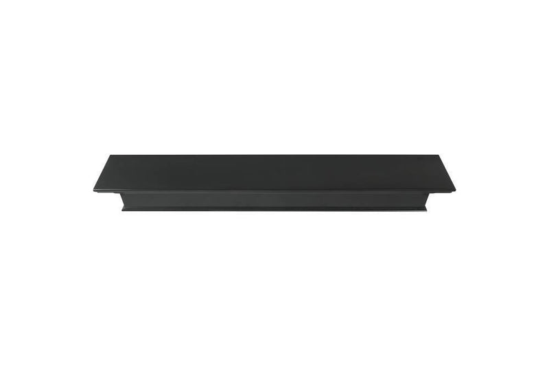 Pearl Mantels Henry Wood Fireplace Mantel Shelf in Black Paint top