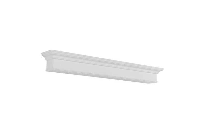 Pearl Mantels Henry Fireplace Mantel Shelf in White Paint angle