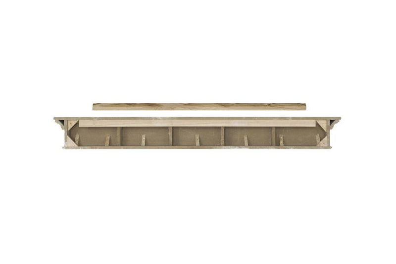 Pearl Mantels Henry Fireplace Mantel Shelf in White Paint back