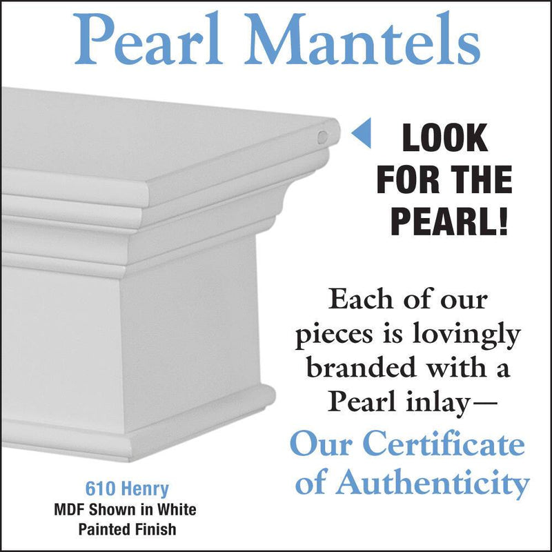 Pearl Mantels Henry Fireplace Mantel Shelf in White Paint detail