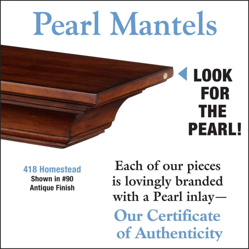 Pearl Mantels Homestead Mantel Shelf in Antique Finish detail