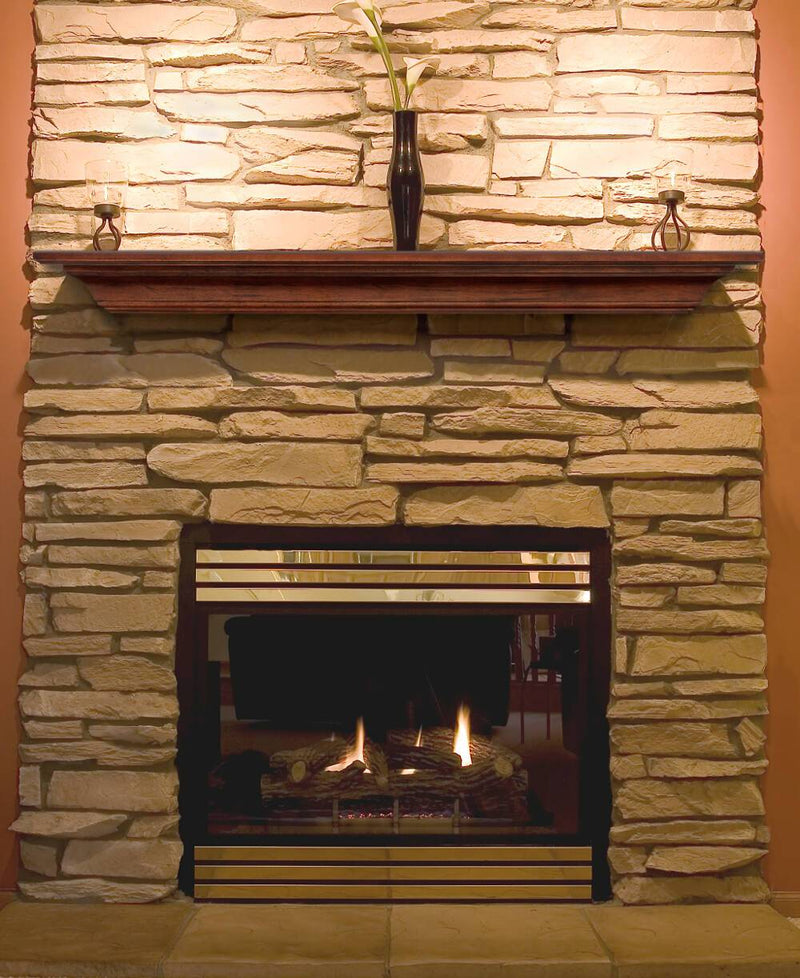 Pearl Mantels Homestead Wood Fireplace Mantel Shelf in Antique Finish