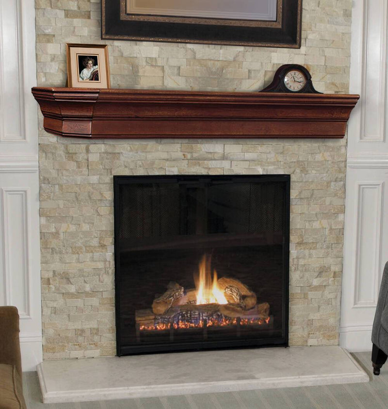 Pearl Mantels Lindon Wood Fireplace Mantel Shelf In Cherry