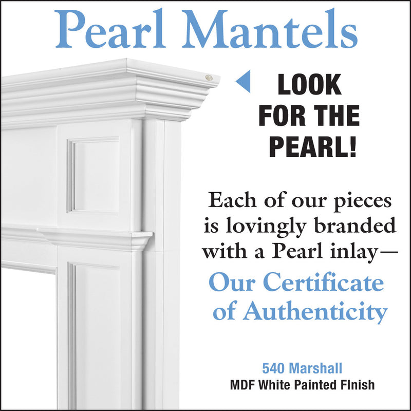 Pearl Mantels Marshall Fireplace Mantel detail