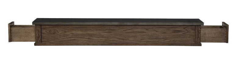 Pearl Mantels Park West Wood Fireplace Mantel Shelf in River Distressed Finish open 2