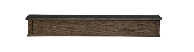 Pearl Mantels Park West Wood Fireplace Mantel Shelf in River Distressed Finish closed 2
