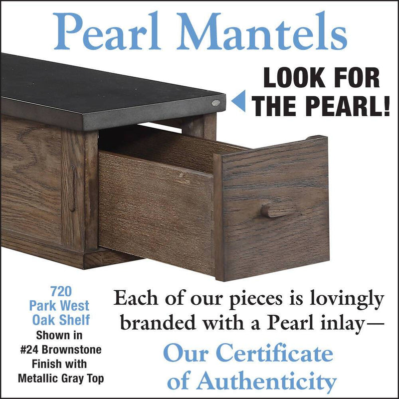 Pearl Mantels Park West Wood Fireplace Mantel Shelf in River Distressed Finish detail