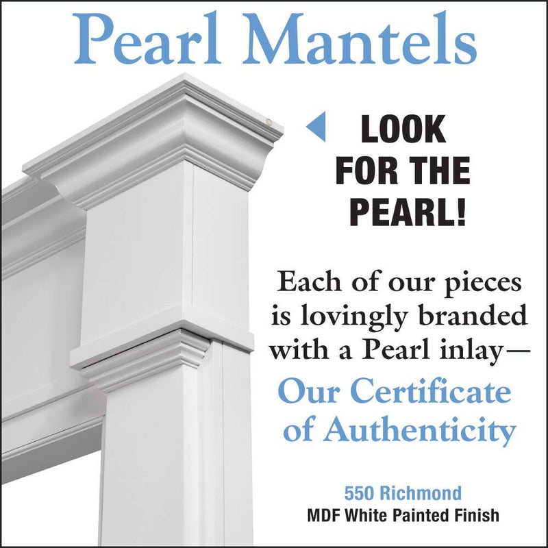 Pearl Mantels Richmond Fireplace Mantel Surround detail