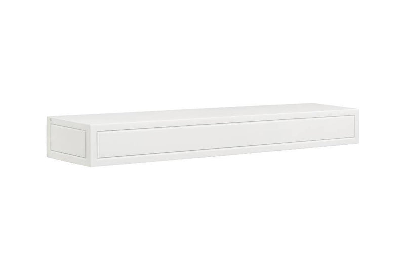 Pearl Mantels Sarah Fireplace Mantel Shelf in White Paint angle
