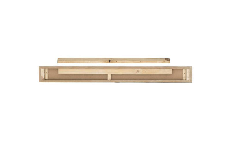 Pearl Mantels Sarah Fireplace Mantel Shelf in White Paint back