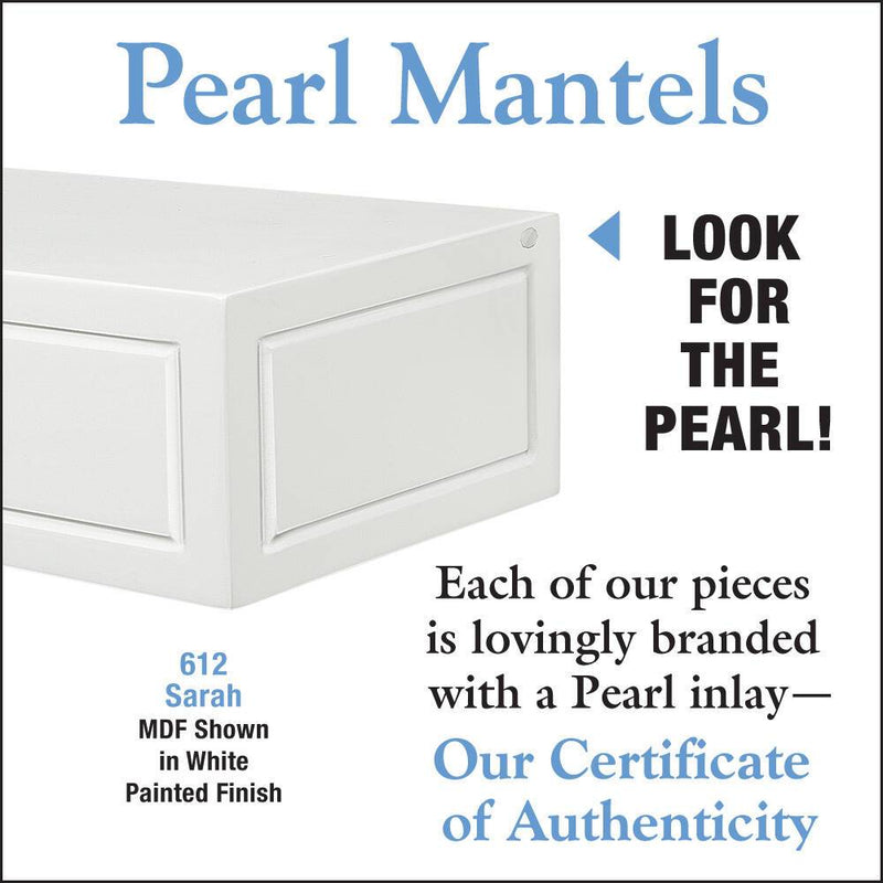 Pearl Mantels Sarah Fireplace Mantel Shelf in White Paint detail