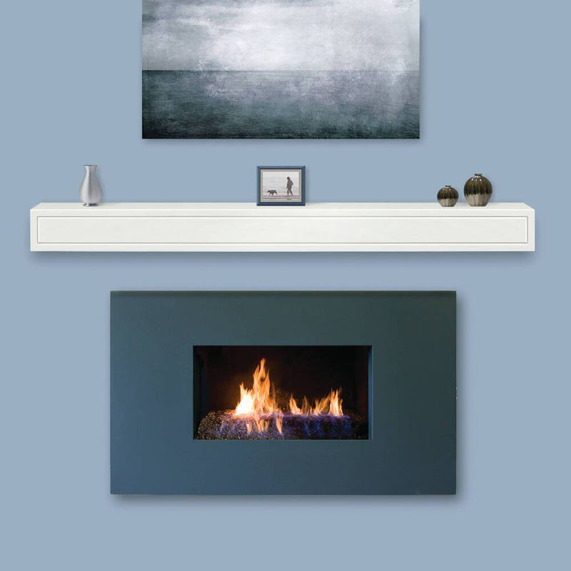Pearl Mantels Sarah Fireplace Mantel Shelf in White Paint