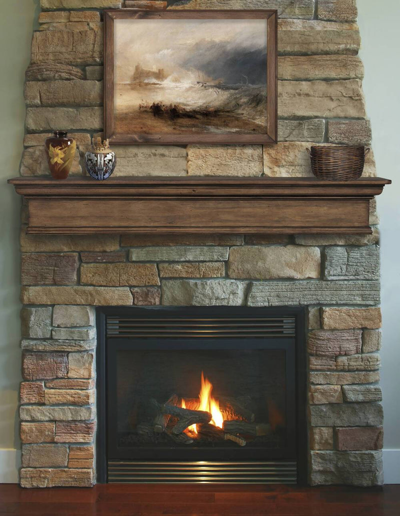 Pearl Mantels Savannah Wood Fireplace Mantel Shelf in Taos 48