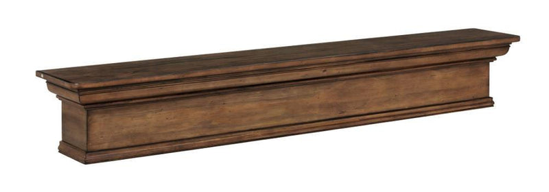 Pearl Mantels Savannah Wood Fireplace Mantel Shelf in Taos Finish angle