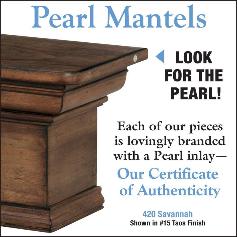 Pearl Mantels Savannah Wood Fireplace Mantel Shelf in Taos Finish detail