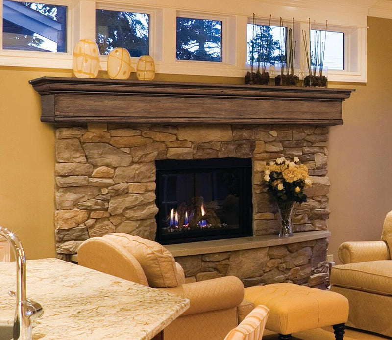 Pearl Mantels Savannah Wood Fireplace Mantel Shelf in Taos Finish