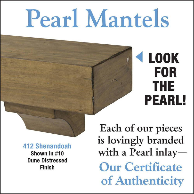 Pearl Mantels Shenandoah Rustic Wood Fireplace Mantel Shelf in Dune Distressed Finishdetail