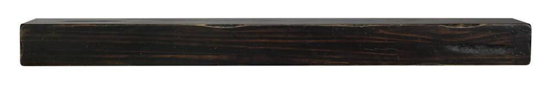 Pearl Mantels Shenandoah Rustic Wood Fireplace Mantel Shelf in Espresso Finish floating