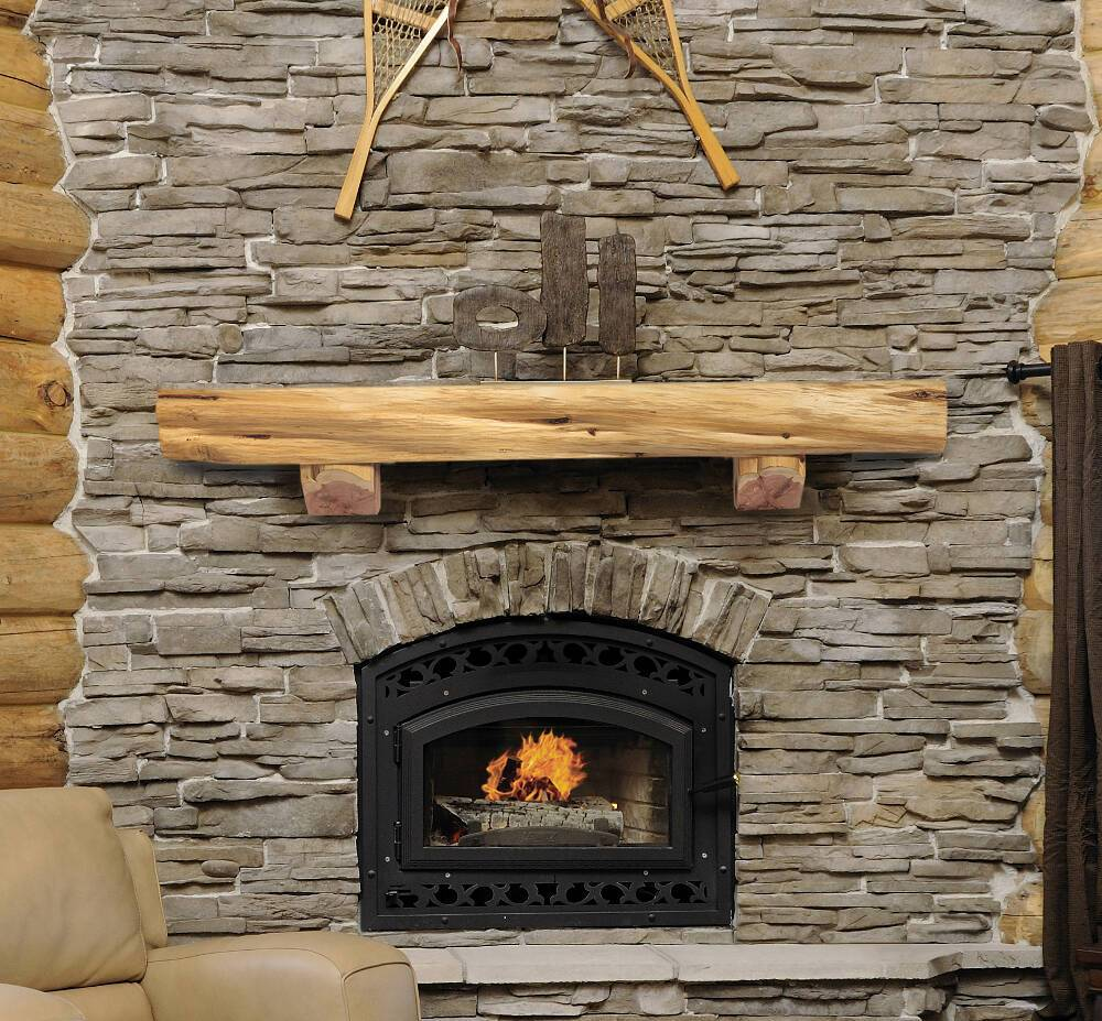 Magnificent Pearl Mantels Solid Cedar Log Rustic Wood Fireplace Mantel Shelf Home Interior And Landscaping Ologienasavecom