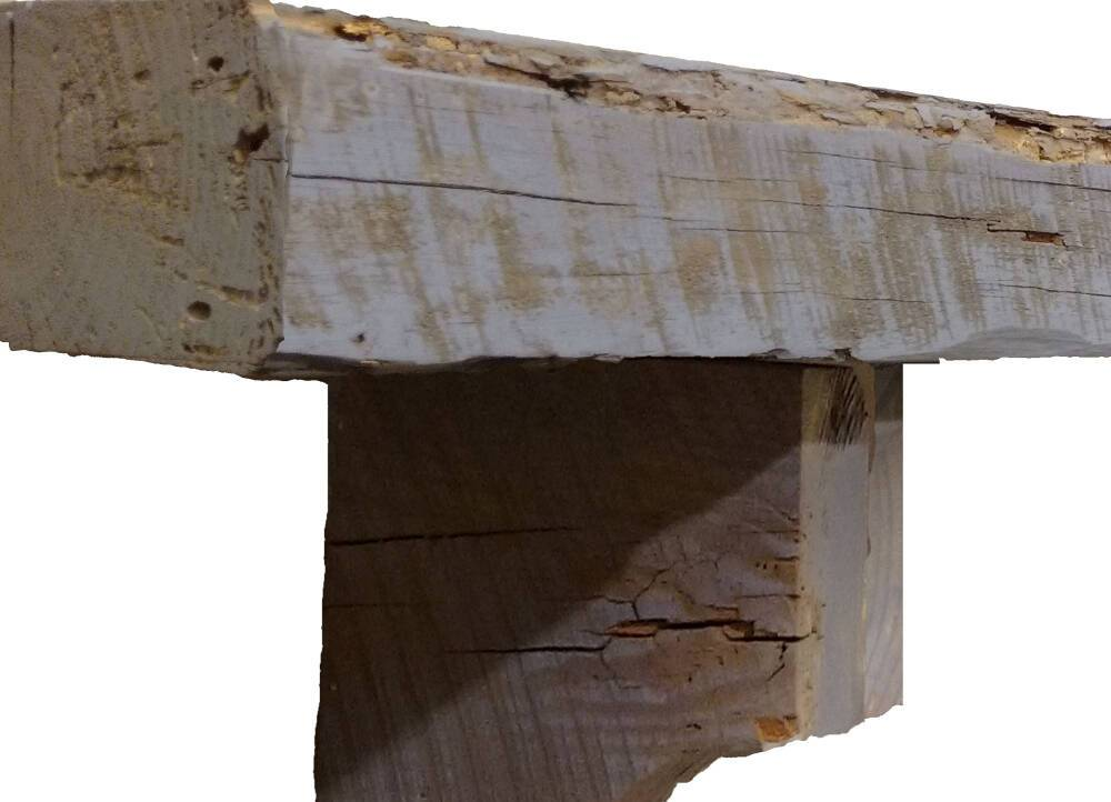 Pearl Mantels Reclaimed Pine Wood Fireplace Mantel Shelf