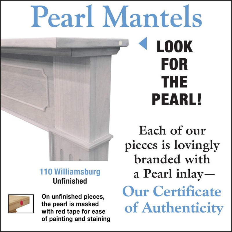 Pearl Mantels Williamsburg Wood Fireplace Mantel Surround Unfinished detail