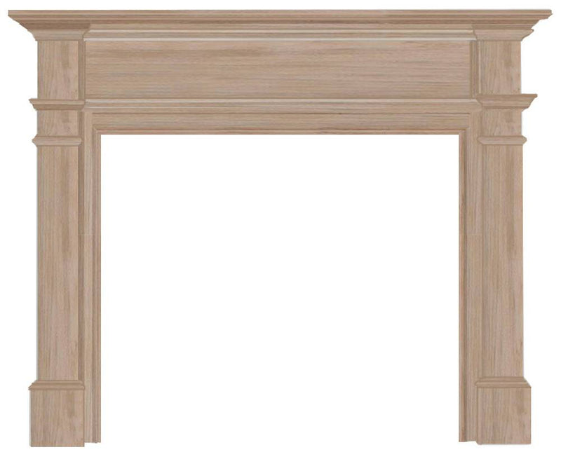 Pearl Mantels Windsor Wood Fireplace Mantel Surround Unfinished