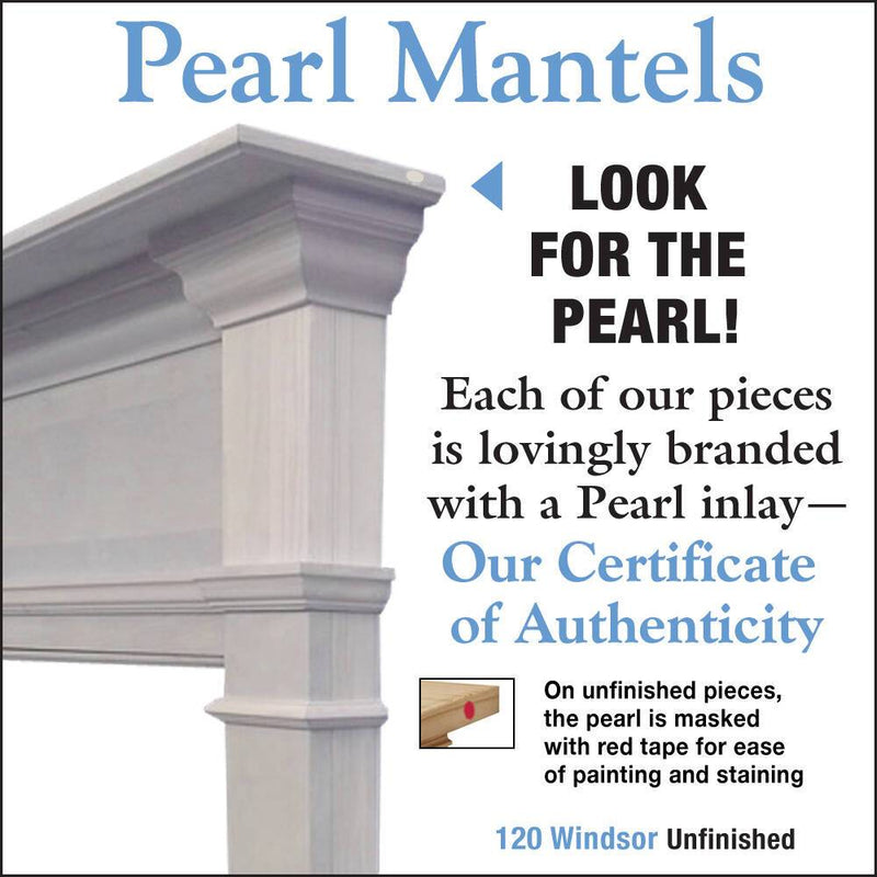 Pearl Mantels Windsor Wood Fireplace Mantel Surround Unfinished detail