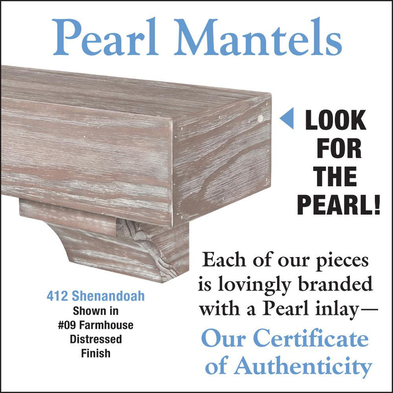 Pearl Mantels Shenandoah Rustic Wood Fireplace Mantel Shelf Farmhouse Grey