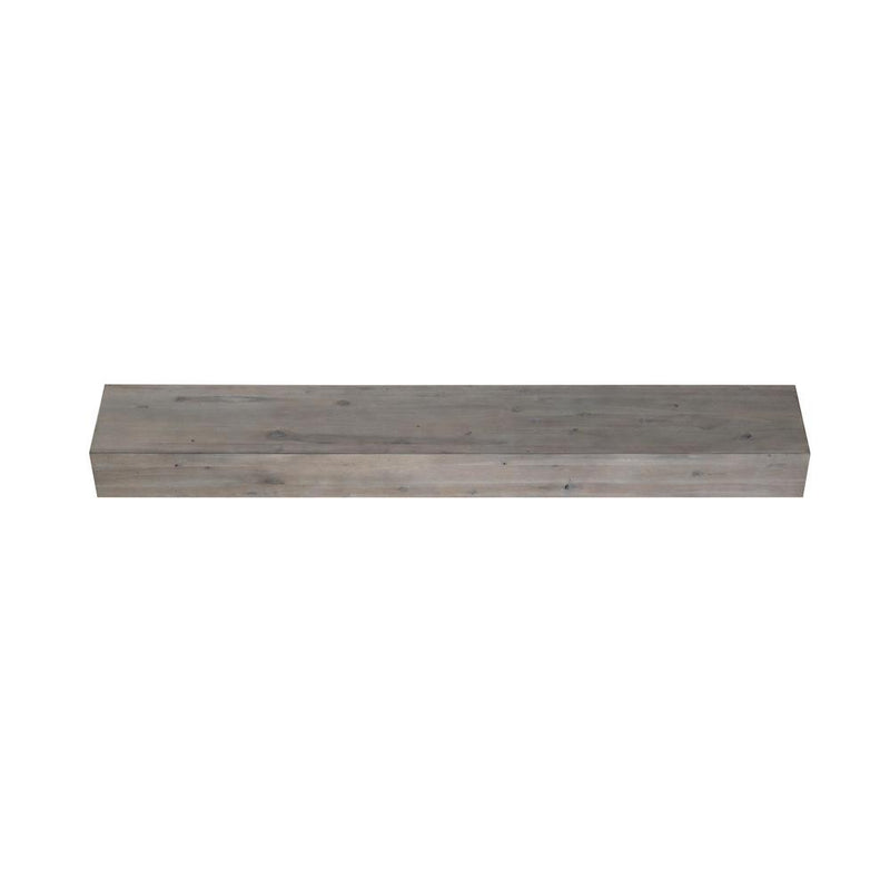 Pearl Mantels Acacia Rustic Wood Fireplace Mantel Shelf in Weathered Finish