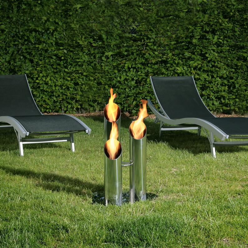 Bio-Blaze Free Standing Bio-Ethanol Fireplace Pipes Small BB-PS