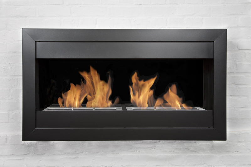"Bio-Blaze 39"" Bio-Ethanol Wall Mounted Fireplace Square Large II"