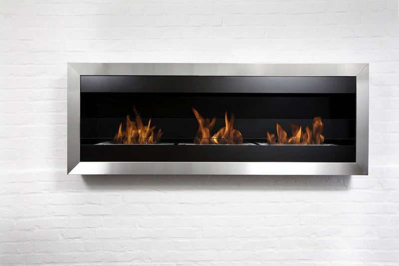 "Bio-Blaze 59"" Wall Mounted Bio-Ethanol Fireplace Square XL II"