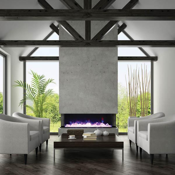 Amantii 3-sided view 72 in Electric Fireplace 72-TRU-VIEW-XL