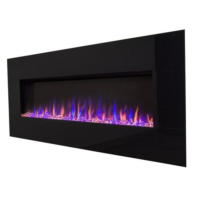 Touchstone AudioFlare Wall Mount 50 inch Electric Fireplace in Black contemporary colors angle