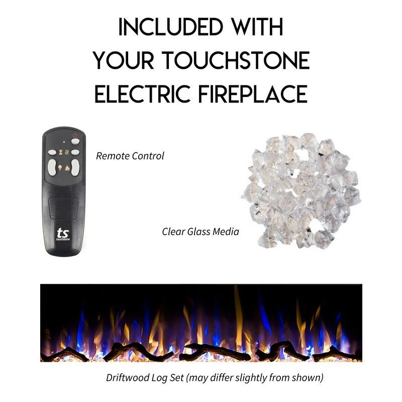Dazzling Multicolor Flames with 5 Intensity Settings: Touchstone Electric Fireplace Multicolor Flames Gif