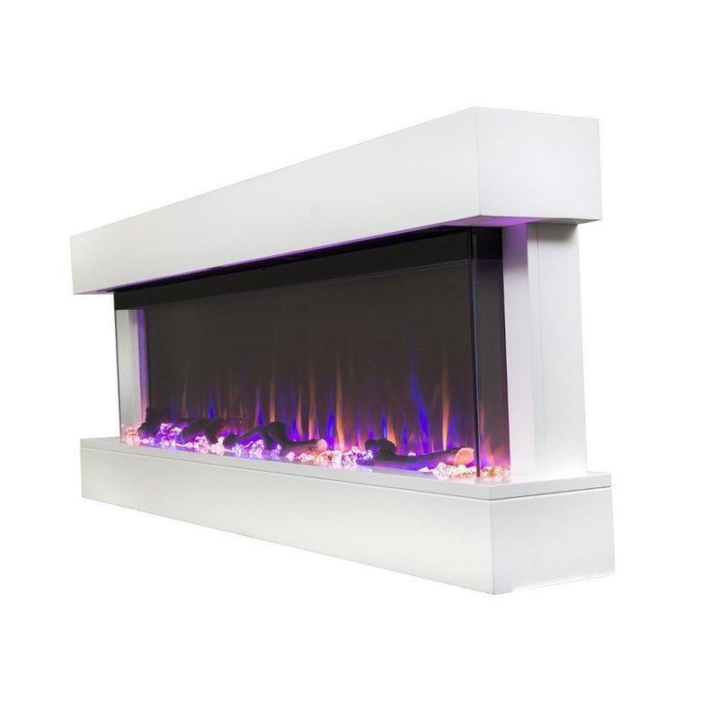 Touchstone Chesmont Wall Mount 50 Inch Electric Fireplace white contemporary