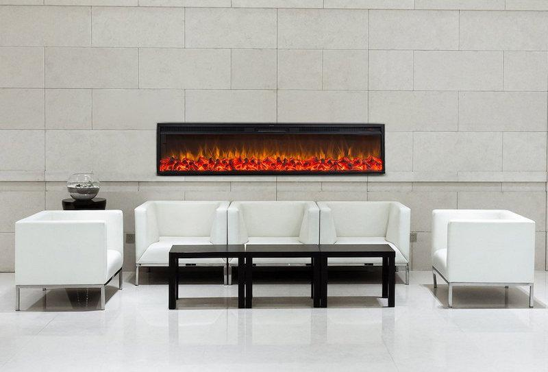 Touchstone Emblazon 72 inch Recessed Electric Fireplace Modern
