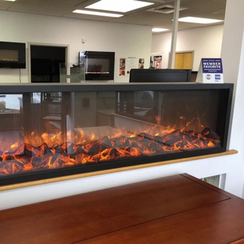 Touchstone Emblazon Mantel 60 Inch Electric Fireplace Black realistic