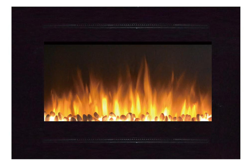 Touchstone Forte Recessed 40 inch Electric Fireplace Black realistic 2