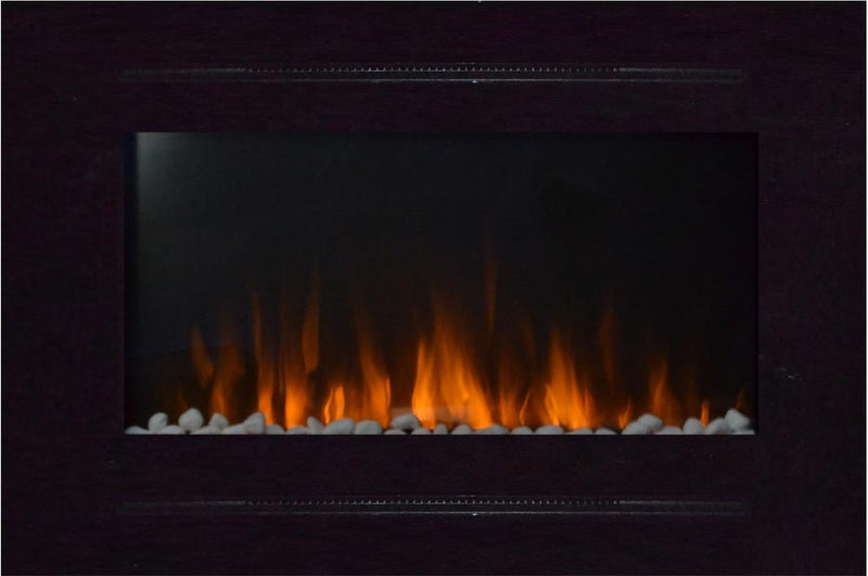 Touchstone Forte Recessed 40 inch Electric Fireplace Black realistic