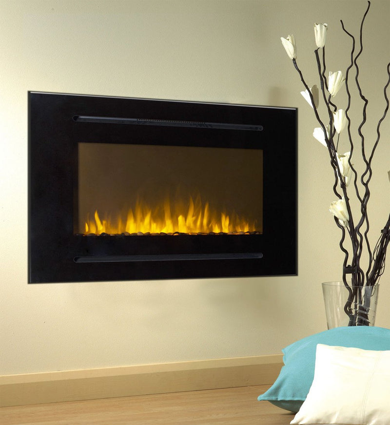 Touchstone Forte Recessed 40 inch Electric Fireplace Black