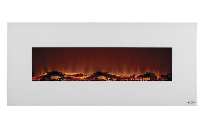 Touchstone Ivory Wall Mount 50 inch Electric Fireplace White realistic 2