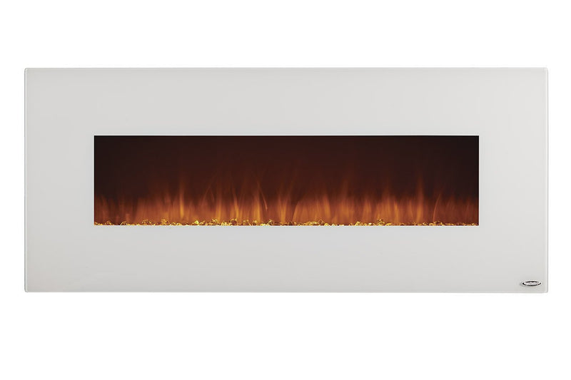 Touchstone Ivory Wall Mount 50 inch Electric Fireplace White realistic 3