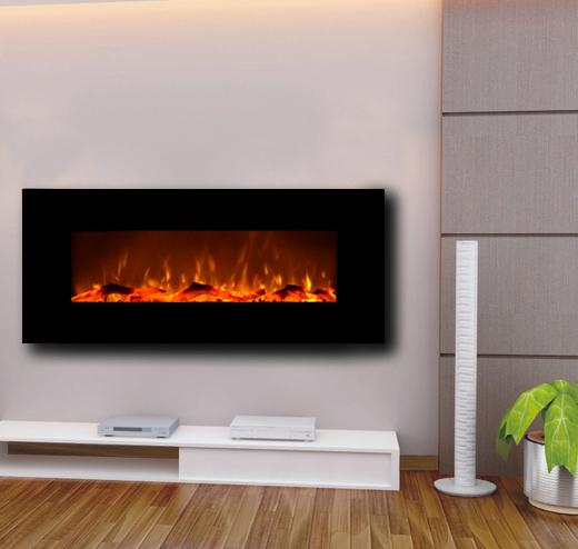 Touchstone Onyx Wall Mount 50 inch Electric Fireplace in Black 4
