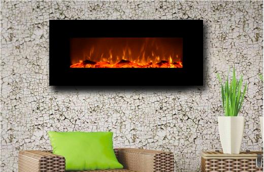 Touchstone Onyx Wall Mount 50 inch Electric Fireplace in Black 5