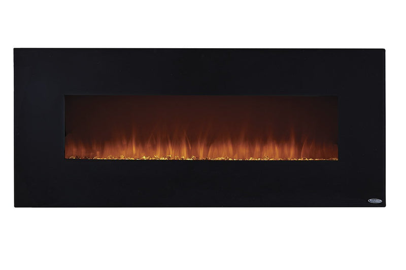 Touchstone Onyx Wall Mount 50 inch Electric Fireplace in Black realistic 4
